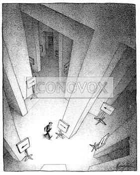 Le labyrinthe administratif ga z re 0001 0076 iconovox source d 39 iconographie et de dessins - Dessin labyrinthe ...