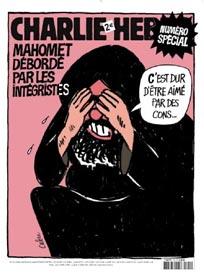 Mahomet, couverture de Charlie Hebdo
