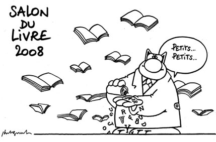 Le chat au salon du livre