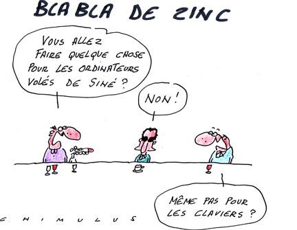 Siné Hebdo cambriolé - dessin de Chimulus