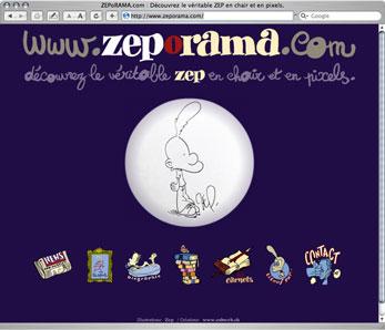 Site internet de Zep auteur de Titeuf