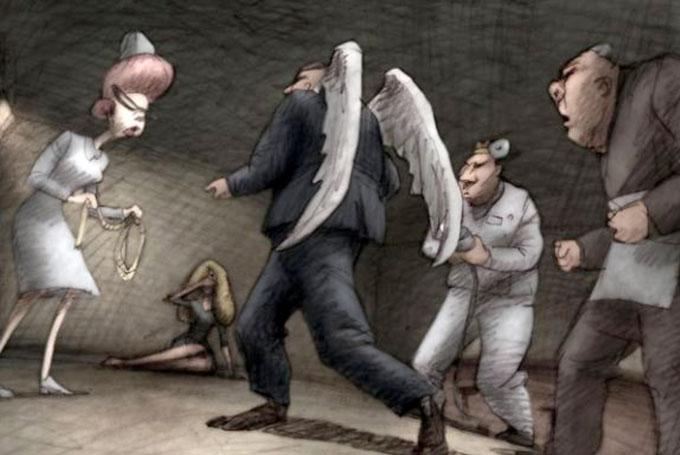 Dessin extrait du film de Bill Plympton : Des idiots et des anges © ED distribution