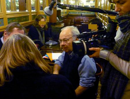 Siné après le procès le 20 janvier 2009