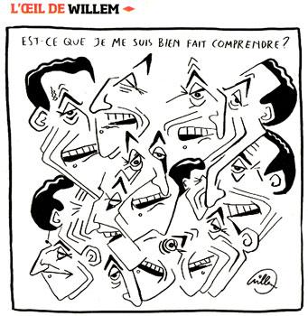 Dessin de Willem dans Liberation n°8613 du 15 janvier 2009