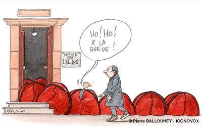 Dessin de Pierre Ballouhey pour le DAL