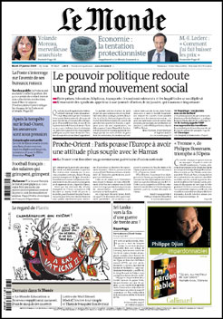Le Monde - Un quotidien sans dessins