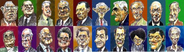 Caricatures des politiques de Daulle