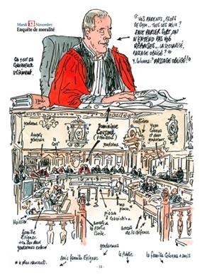 Dessin de Tignous : Le procès Colonna