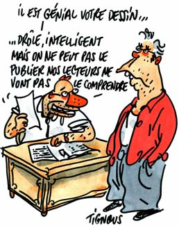Dessin de Tignous extrait du catalogue Iconovox