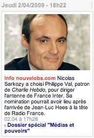 Philippe Val directeur de France-Inter