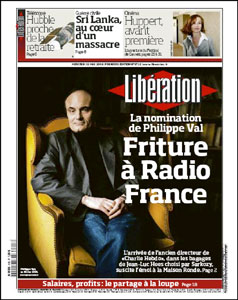 Liberation - Val en une : Friture à Radio France
