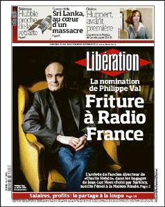 Liberation - Val en une : Friture à Radio France