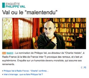 Illustration : capture d'écran du site de Télérama.