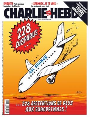 Charlie Hebdo - Une du 3 juin 2009