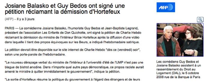AFP Guy Bedos - Charlie Hebdo