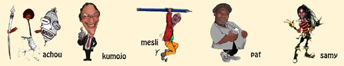 Auteurs dessins : Achou, Kumojo,, Mesli, Paf, Samy