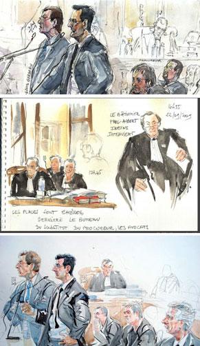 dessins de procès