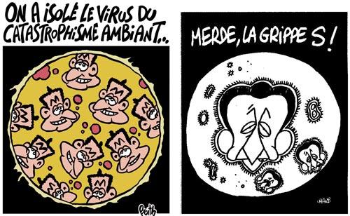 Virus Sarko - Dessins de Berth et Charb