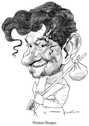 David Levine -  Caricature de Prestobn Sturges
