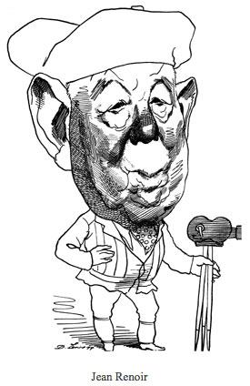 David Levine - Caricature de Jean Renoir